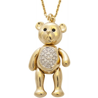 Gold Plated Teddy Bear Necklace